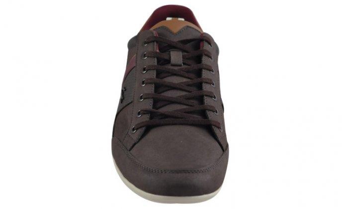 Lacoste Chaymon 318 2 Dk Brown Messieurs exclusvie Sneaker Chaussures En Cuir